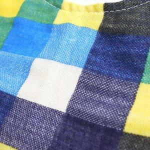 画像3: ビッグチェック ブルー【丸型スタイ】ベビー 手作りキット ダブルガーゼ 国産