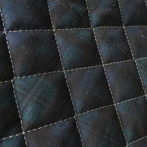 画像1: 《家庭科教材対応》ブラックウォッチ ダーク(タータンチェック) キルティング【体操服袋/ナップサック】手作りキット 入園入学 手芸キット