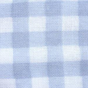 画像2: ギンガムチェック グレー【丸型スタイ】ベビー 手作りキット ダブルガーゼ 国産