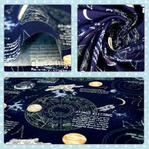 画像2: 宇宙ステーション ネイビー【移動ポケット】手作りキット 手芸キット 中厚手生地【I】