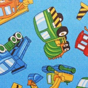 画像2: 車がいっぱい ブルー【体操服袋/ナップサック】手作りキット 入園入学 手芸キット 中厚手生地【C】