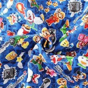 画像2: 【在庫限り再入荷なし】スーパーマリオメーカー ブルー【シューズバッグ】材料セット 入園入学 キルティング
