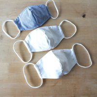 【完成品】布マスク立体型(マスクカバー) 学童サイズ 2枚セット