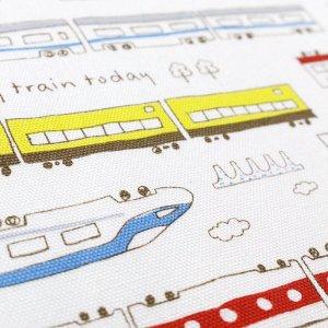 画像2: ネクストステーション 白【給食袋】手作りキット 入園入学 手芸キット 中厚手生地
