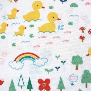 画像2: お庭のダック【抱っこ紐よだれカバー】ベビー 手作りキット 手縫いもOK リバーシブル
