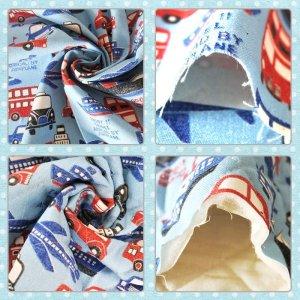 画像2: のりものトラベル【コップ袋】手作りキット 中厚手生地【A】