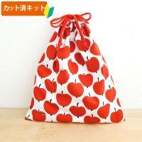 大きなリンゴ【体操服袋/ナップサック】材料セット 入園入学 中厚手生地[n]