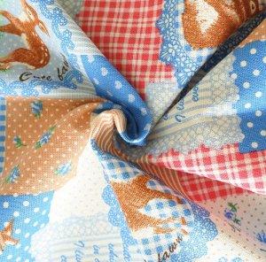 画像2: 森のどうぶつ パッチ【コップ袋】手作りキット 入園入学 手芸キット 中厚手生地