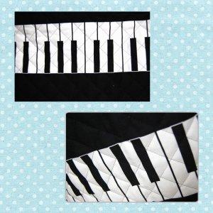 画像3: ブラックのピアノ 【ピアニカバッグ】手作りキット キルティング【P】