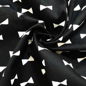 画像2: ブラック×ホワイトリボン【レッスンバッグ】手作りキット キルティング【A】