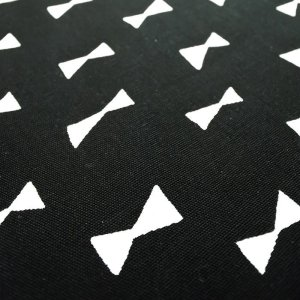 画像2: ブラック×ホワイトリボン【移動ポケット】手作りキット 入園入学 手芸キット 中厚手生地【I】