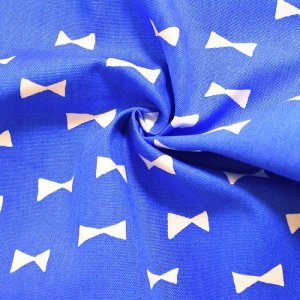画像2: ブルー×ホワイトリボン【給食袋】手作りキット 入園入学 手芸キット 中厚手生地