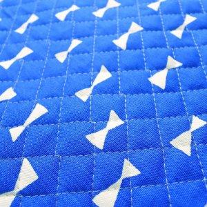 画像2: ブルー×ホワイトリボン【レッスンバッグ】手作りキット キルティング【A】