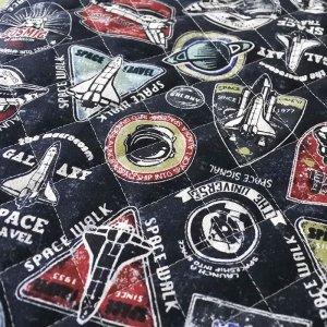 画像2: スペースシャトル ブラック【ピアニカバッグ】手作りキット キルティング【A】