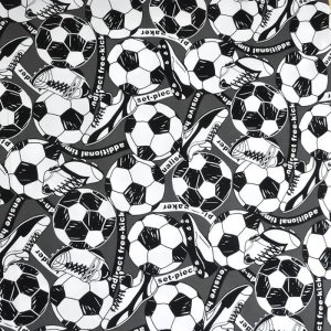 画像2: サッカーボール&スパイク【体操服袋/ナップサック】手作りキット 入園入学 手芸キット 中厚手生地