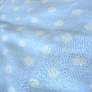 画像2: お空のくも ライトブルー【くるくるスタイ】ベビー 手作りキット ダブルガーゼ 国産