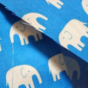 画像2: ぞうさん ブルー【お弁当袋】手作りキット 入園入学 手芸キット 中厚手生地[n]