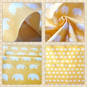 画像2: ぞうさん 黄色【ランチョンマット】手作りキット 入園入学 手芸キット 中厚手生地