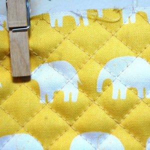 画像2: ぞうさん 黄色【ピアニカバッグ】手作りキット 入園入学 手芸キット キルティング【P】[n]